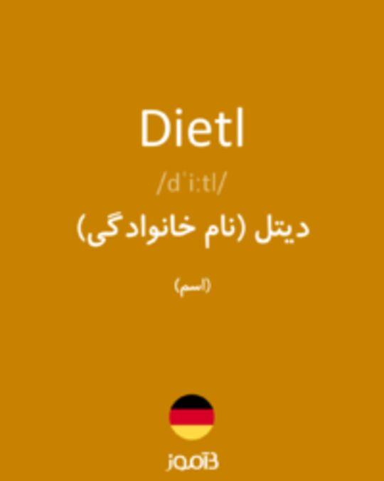 تصویر Dietl - دیکشنری انگلیسی بیاموز