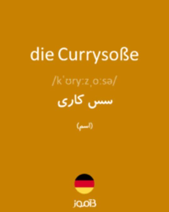 تصویر die Currysoße - دیکشنری انگلیسی بیاموز