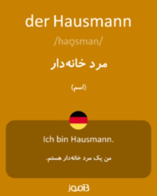 تصویر der Hausmann - دیکشنری انگلیسی بیاموز