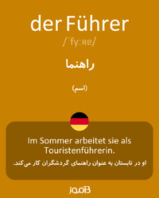 تصویر der Führer - دیکشنری انگلیسی بیاموز