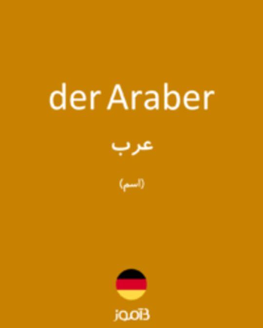 تصویر der Araber - دیکشنری انگلیسی بیاموز