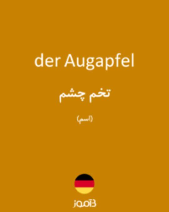 تصویر der Augapfel - دیکشنری انگلیسی بیاموز
