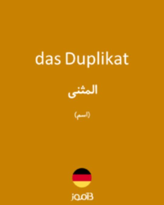 تصویر das Duplikat - دیکشنری انگلیسی بیاموز