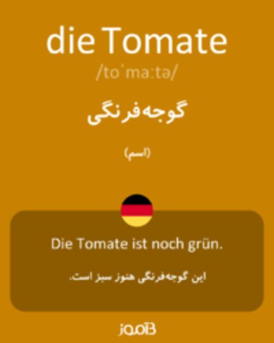 تصویر die Tomate - دیکشنری انگلیسی بیاموز