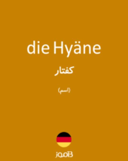 تصویر die Hyäne - دیکشنری انگلیسی بیاموز