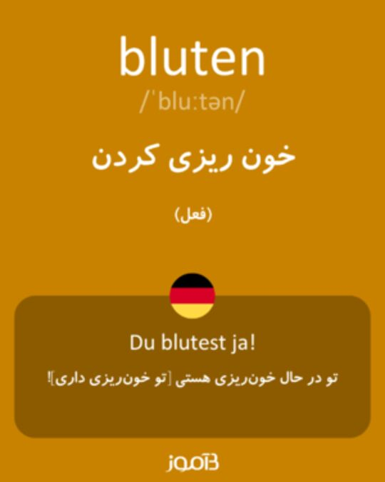 تصویر معنی و ترجمه لغت braten - دیکشنری آلمانی  به فارسی