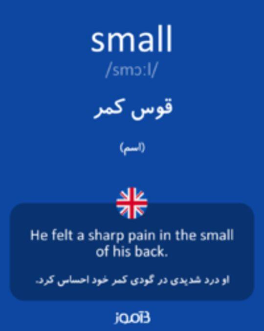 تصویر small - دیکشنری انگلیسی بیاموز