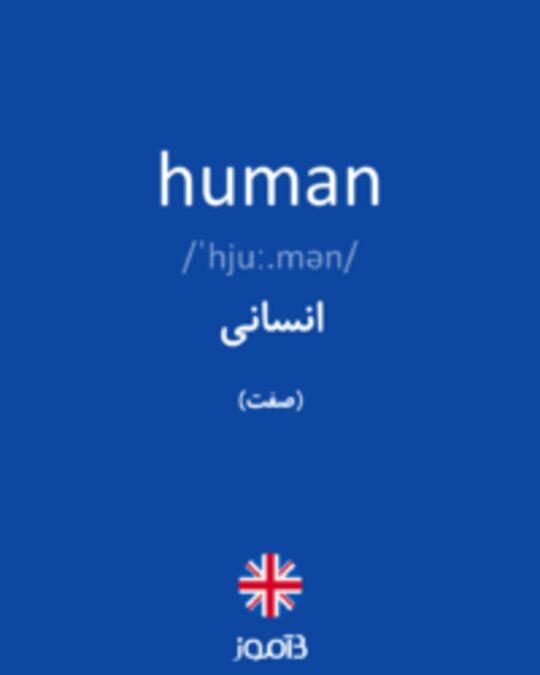 تصویر human - دیکشنری انگلیسی بیاموز