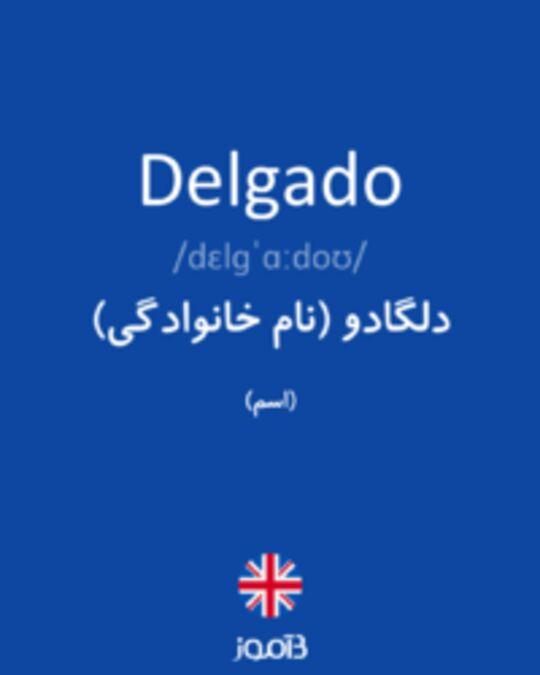 تصویر Delgado - دیکشنری انگلیسی بیاموز
