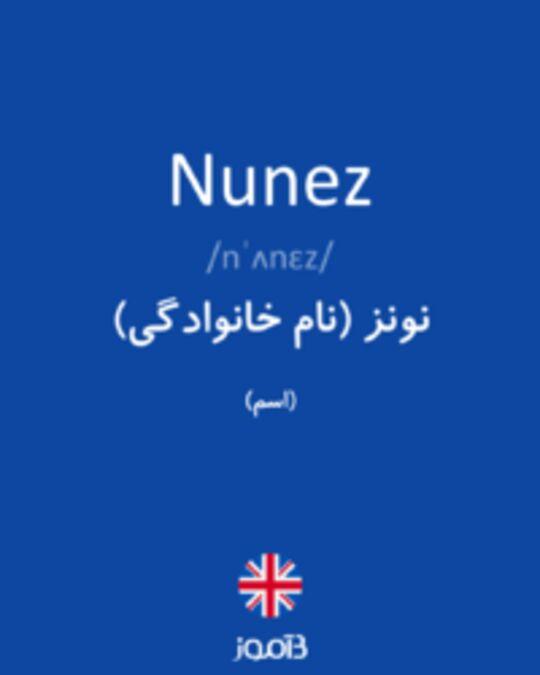تصویر Nunez - دیکشنری انگلیسی بیاموز
