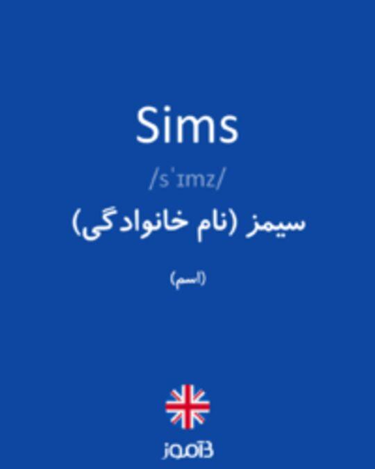 تصویر Sims - دیکشنری انگلیسی بیاموز