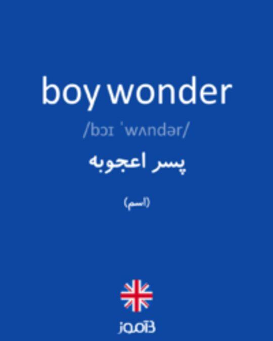 تصویر boy wonder - دیکشنری انگلیسی بیاموز