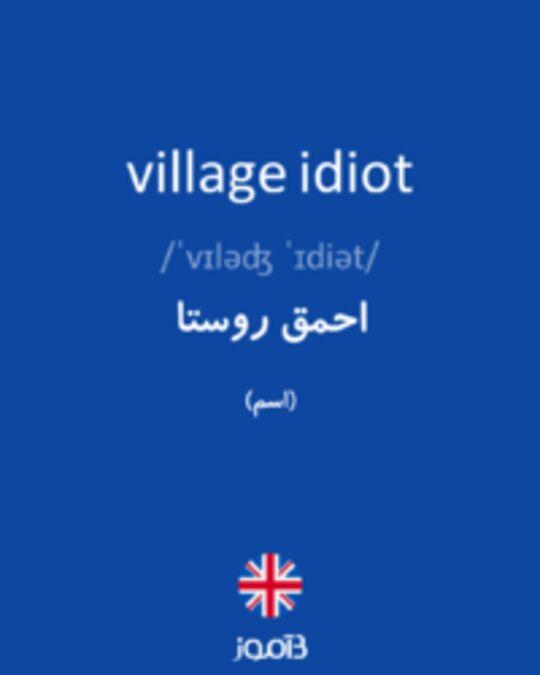 تصویر village idiot - دیکشنری انگلیسی بیاموز