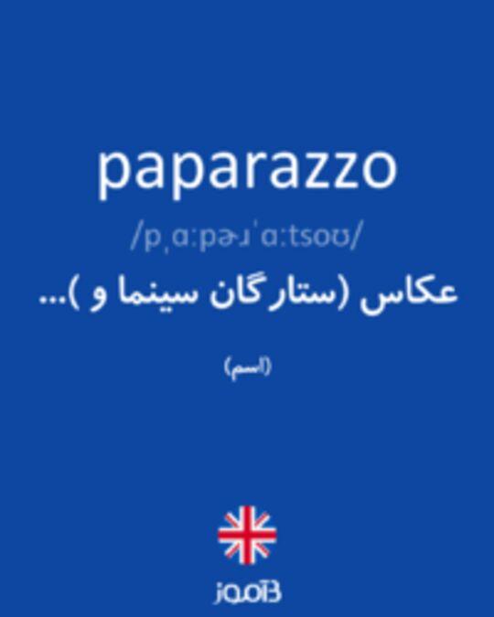 تصویر paparazzo - دیکشنری انگلیسی بیاموز