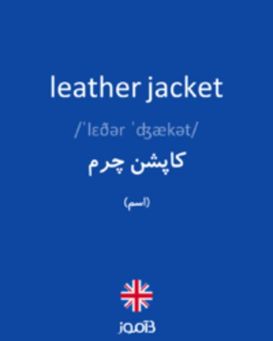 تصویر leather jacket - دیکشنری انگلیسی بیاموز