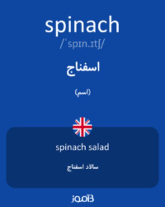 تصویر spinach - دیکشنری انگلیسی بیاموز