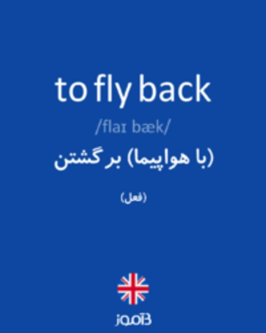 تصویر to fly back - دیکشنری انگلیسی بیاموز