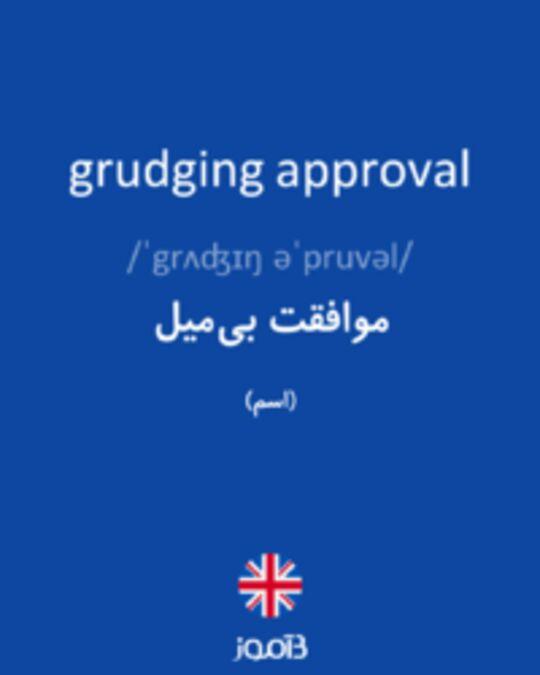 تصویر grudging approval - دیکشنری انگلیسی بیاموز
