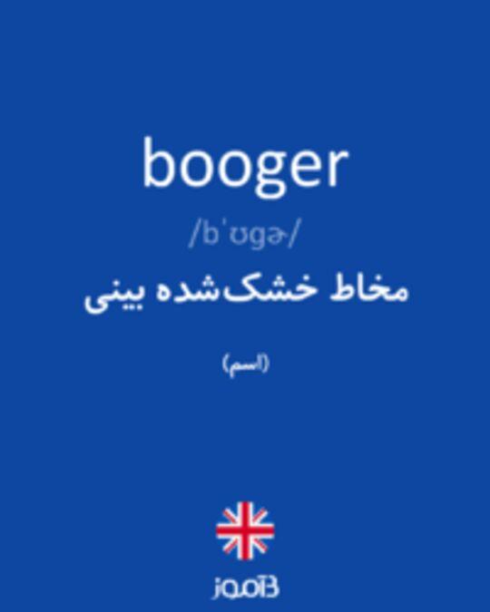تصویر booger - دیکشنری انگلیسی بیاموز