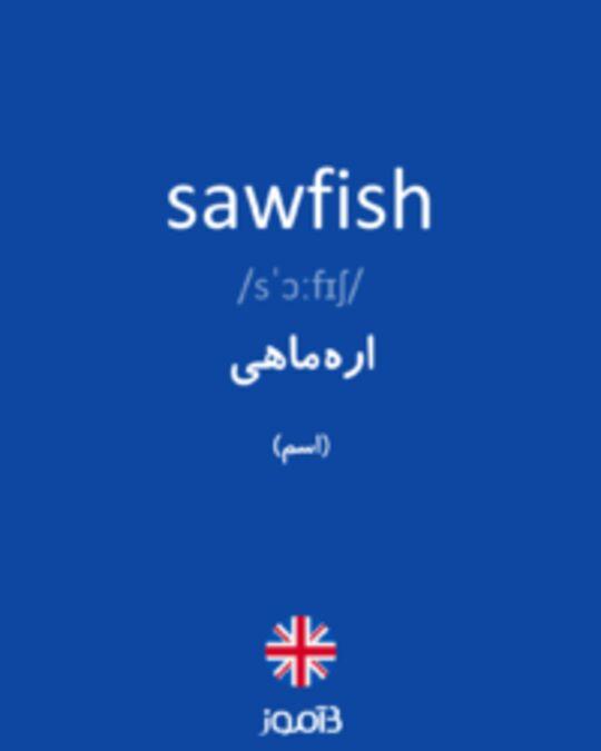 تصویر sawfish - دیکشنری انگلیسی بیاموز