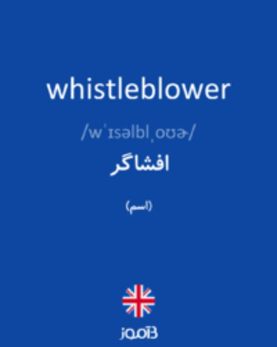 تصویر whistleblower - دیکشنری انگلیسی بیاموز