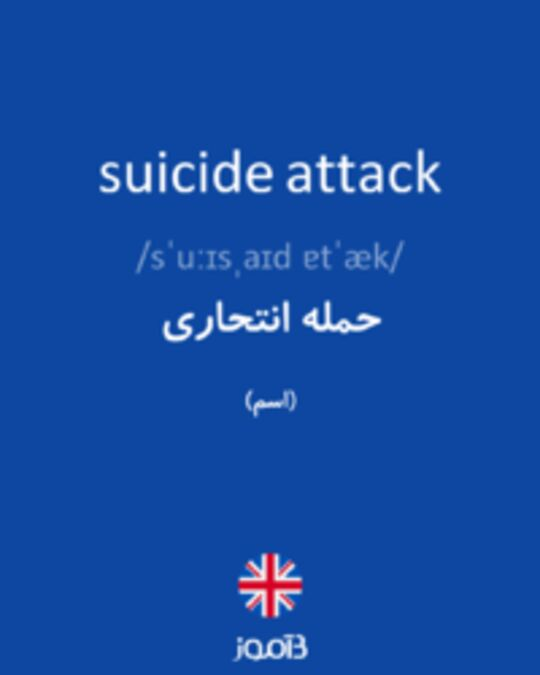 تصویر suicide attack - دیکشنری انگلیسی بیاموز