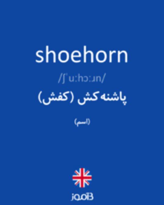 تصویر shoehorn - دیکشنری انگلیسی بیاموز