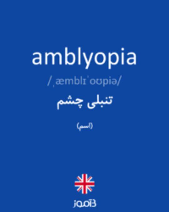 تصویر amblyopia - دیکشنری انگلیسی بیاموز