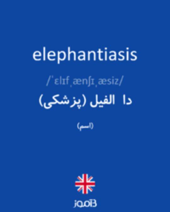 تصویر elephantiasis - دیکشنری انگلیسی بیاموز
