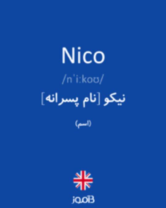 تصویر Nico - دیکشنری انگلیسی بیاموز