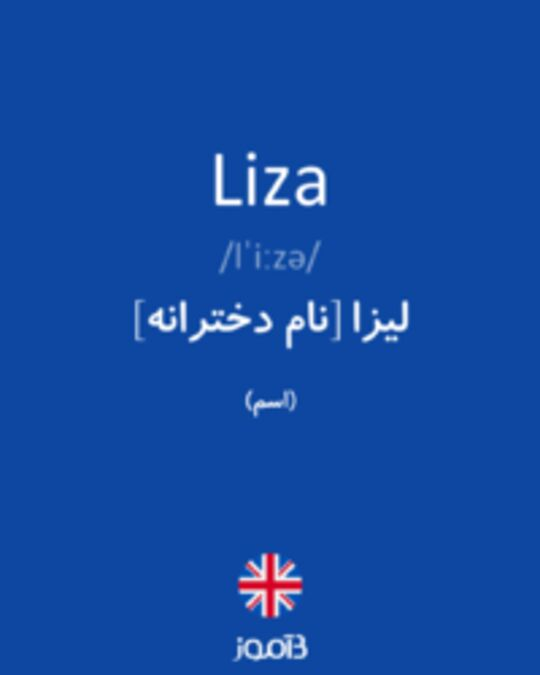 تصویر Liza - دیکشنری انگلیسی بیاموز