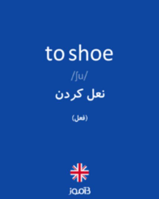 تصویر to shoe - دیکشنری انگلیسی بیاموز