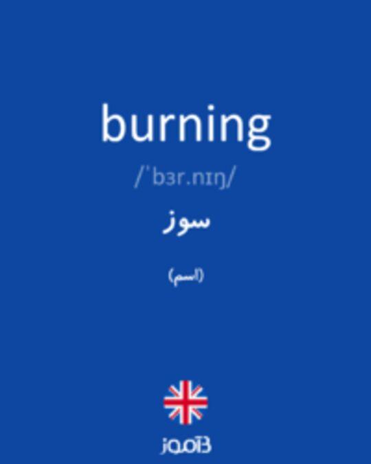 تصویر burning - دیکشنری انگلیسی بیاموز