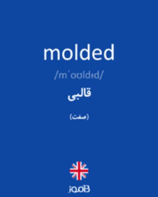 تصویر molded - دیکشنری انگلیسی بیاموز