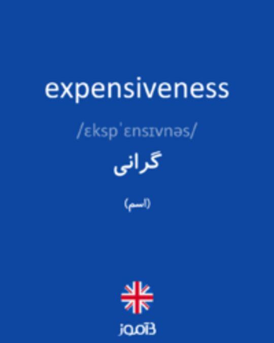 تصویر expensiveness - دیکشنری انگلیسی بیاموز