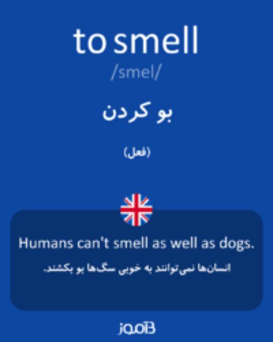 تصویر to smell - دیکشنری انگلیسی بیاموز