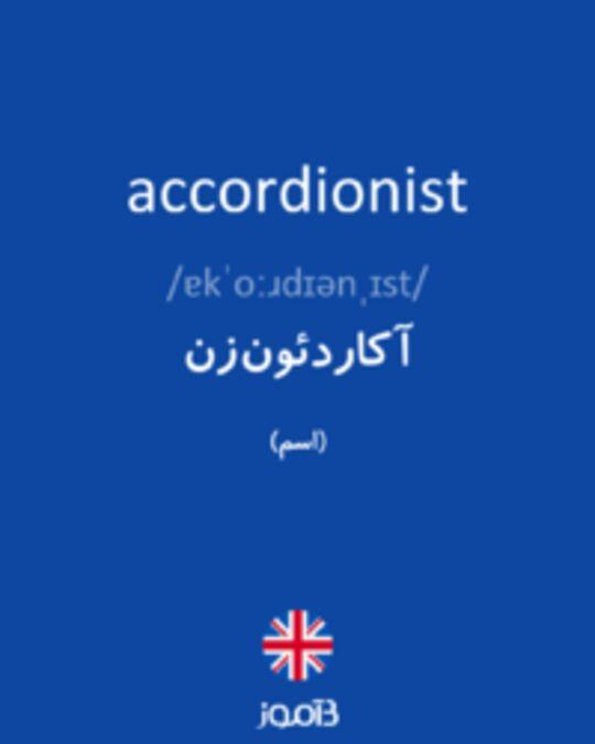 تصویر accordionist - دیکشنری انگلیسی بیاموز