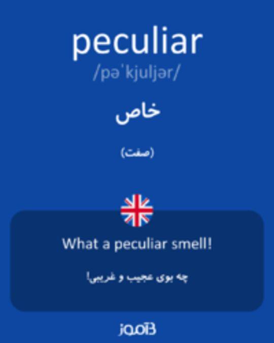 تصویر peculiar - دیکشنری انگلیسی بیاموز