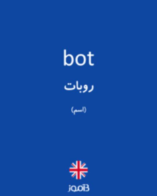 تصویر bot - دیکشنری انگلیسی بیاموز
