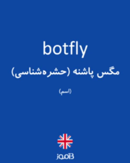 تصویر botfly - دیکشنری انگلیسی بیاموز