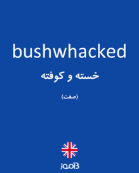 تصویر bushwhacked - دیکشنری انگلیسی بیاموز