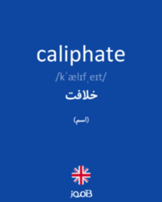 تصویر caliphate - دیکشنری انگلیسی بیاموز