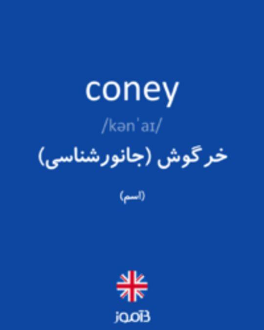 تصویر coney - دیکشنری انگلیسی بیاموز