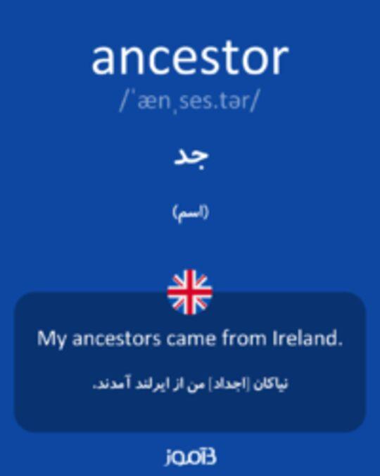 تصویر ancestor - دیکشنری انگلیسی بیاموز