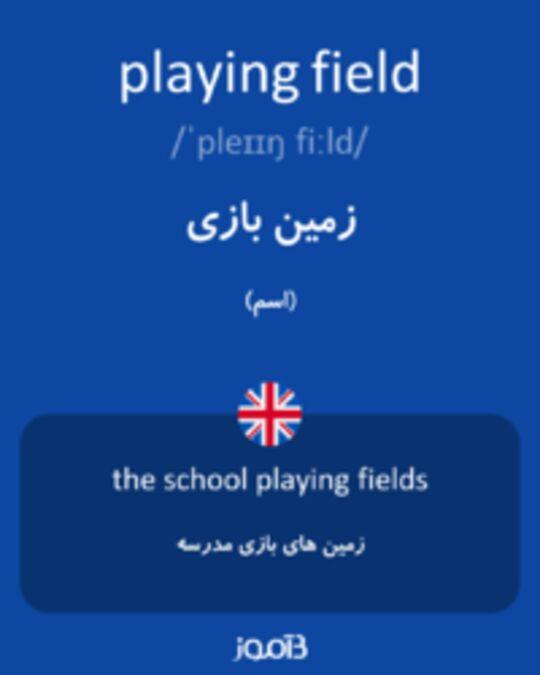 تصویر playing field - دیکشنری انگلیسی بیاموز