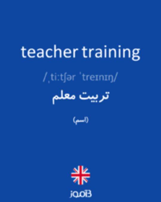 تصویر teacher training - دیکشنری انگلیسی بیاموز