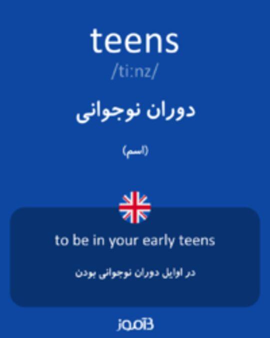 تصویر teens - دیکشنری انگلیسی بیاموز