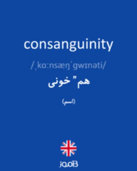 تصویر consanguinity - دیکشنری انگلیسی بیاموز