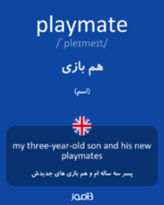 تصویر playmate - دیکشنری انگلیسی بیاموز