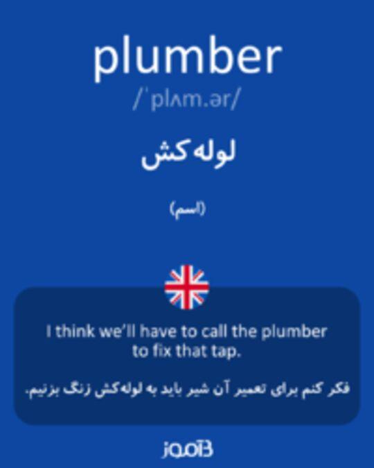 تصویر plumber - دیکشنری انگلیسی بیاموز